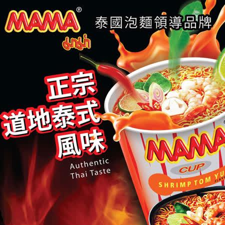 泰國MAMA麵 酸辣蝦味36杯/箱