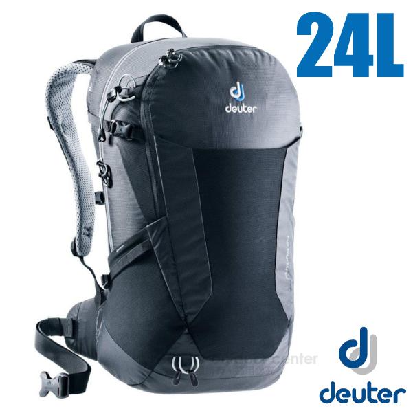 【德國 Deuter】Futura 24L 輕量網架式透氣背包(附原廠防水背包套)/3400118 黑