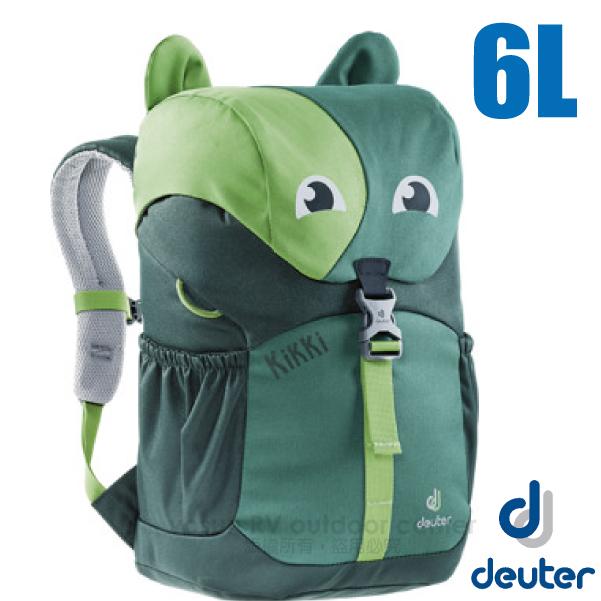 【德國 Deuter 】Kikki 6L 可愛動物造型 輕量透氣兒童背包/3610519 綠/深綠
