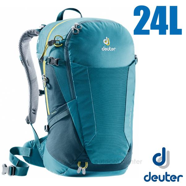 【德國 Deuter】Futura 24L 輕量網架式透氣背包(附原廠防水背包套)/3400118 湖綠/藍