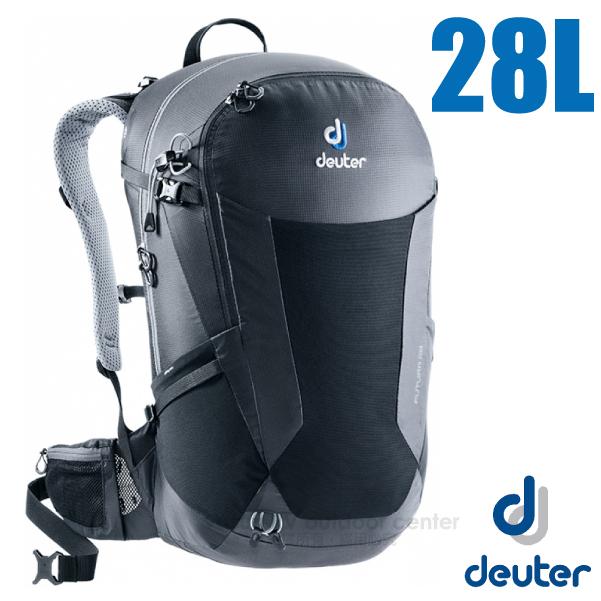 【德國 Deuter】Futura 28L 輕量網架式透氣背包(附原廠防水背包套)/3400518 黑