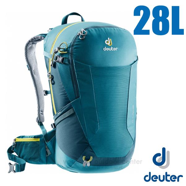【德國 Deuter】Futura 28L 輕量網架式透氣背包(附原廠防水背包套)/3400518 湖綠/藍