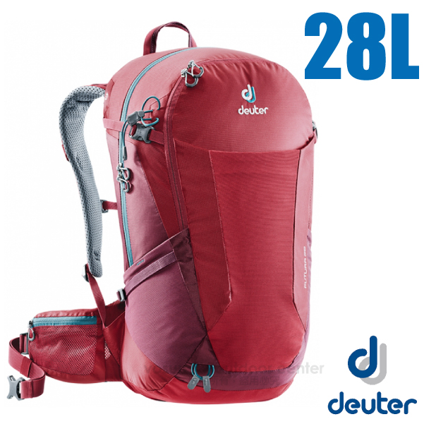 【德國 Deuter】Futura 28L 輕量網架式透氣背包(附原廠防水背包套)/3400518 莓紅/紫紅