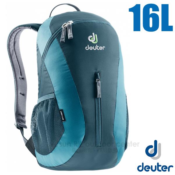 【德國 Deuter】City Light 16L 輕量級拔熱透氣休閒背包/80154 藍/灰藍