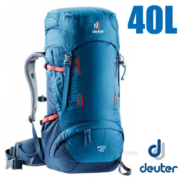 【德國 Deuter】Fox 40+4L 專業輕量拔熱透氣背包_3613118 藍/深藍