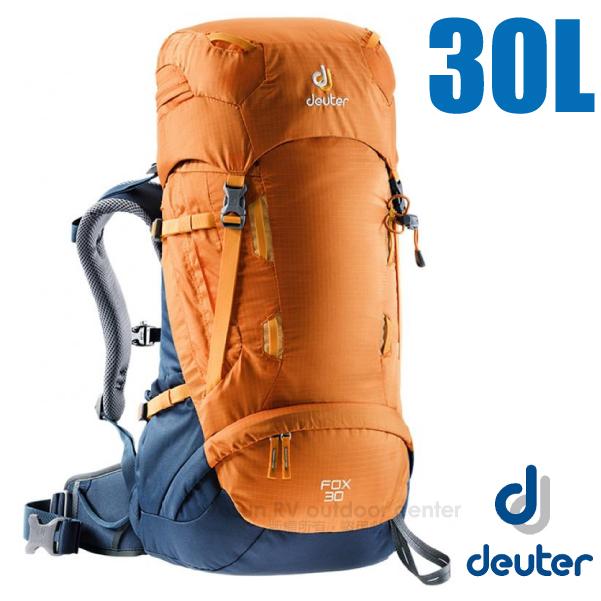 【德國 Deuter】Fox 30+4L 專業輕量拔熱透氣背包_3613018 芒果黃/暗藍