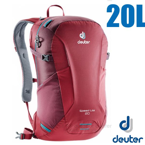 【德國 Deuter】Speed Lite 20L 輕量級透氣健行登山背包 _3410218 莓紅/紫紅