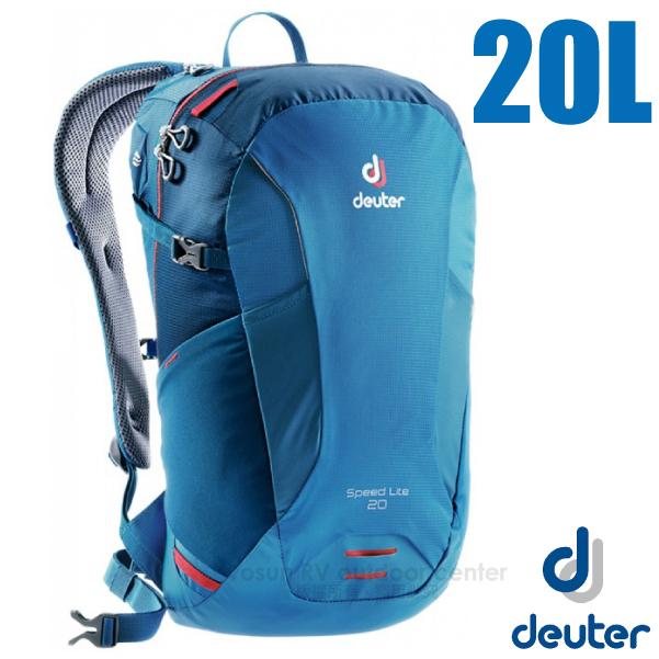 【德國 Deuter】Speed Lite 20L 輕量級透氣健行登山背包 _3410218 藍/深藍