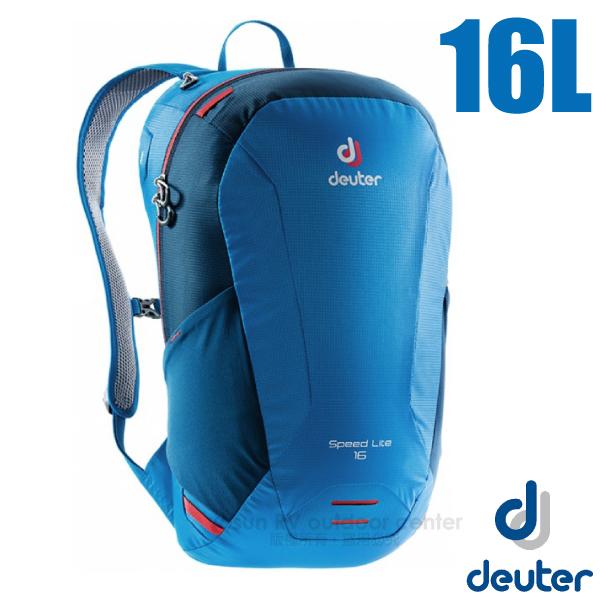 【德國 Deuter】Speed Lite 16L 輕量級透氣健行登山背包_3410118 藍/深藍