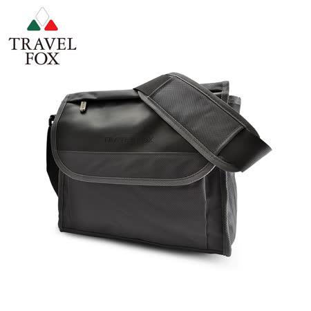 (快速到貨)【TRAVEL FOX 旅狐】簡約商務鑽紋公事包/側背包 (TB599-01) 黑色