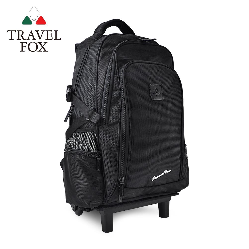 (快速到貨)【TRAVEL FOX 旅狐】可拆卸式多功能拉桿包/後背包(TB616-01) 黑色