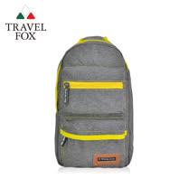 (快速到貨)【TRAVEL FOX 旅狐】休閒單肩車縫斜肩包 (TB676-98) 灰色
