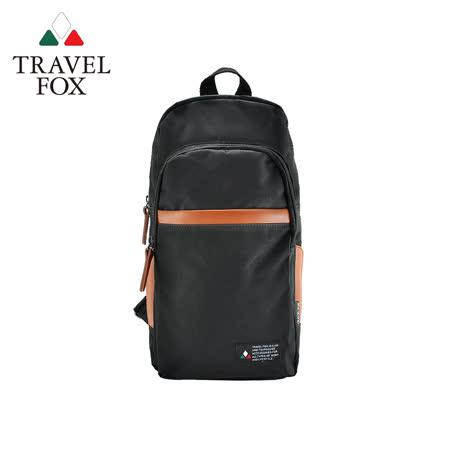 (快速到貨)【TRAVEL FOX 旅狐】單肩/雙肩兩用輕巧後背包 (TB689-01) 黑色