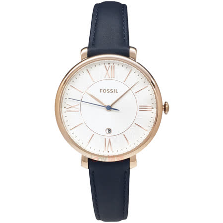 FOSSIL 白面時尚知性女錶