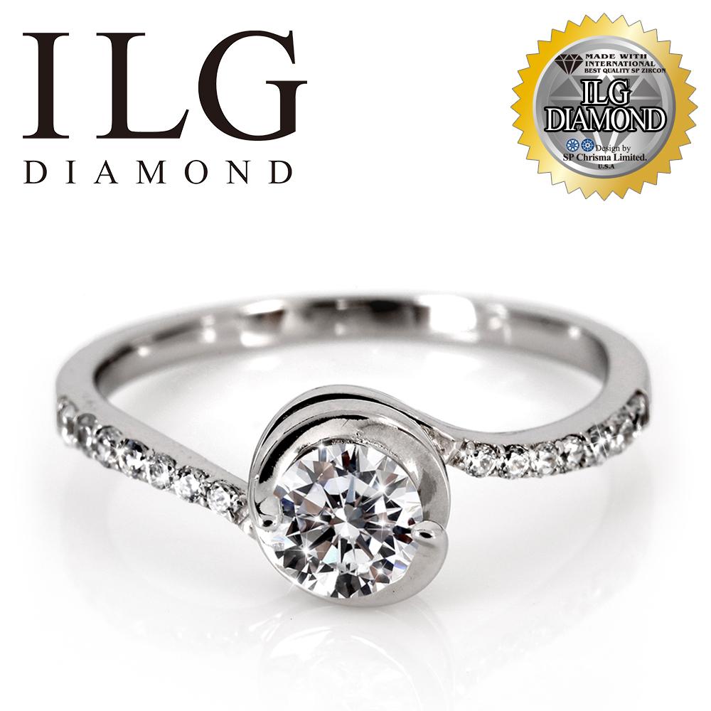 (新品搶先看)【頂級美國ILG鑽飾】八心八箭戒指 - 性感尤物款 RI168 主鑽約50分 閃耀指尖魅力 媲美真鑽亮度