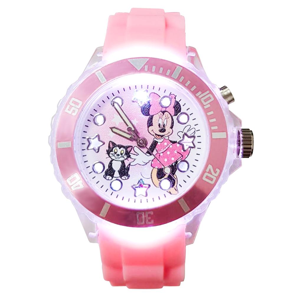 【迪士尼】Minnie Mouse 米妮與貓咪  閃燈錶