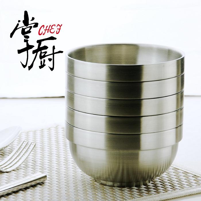 《掌廚》316不鏽鋼雙層隔熱碗 5入組 (STB-5P)