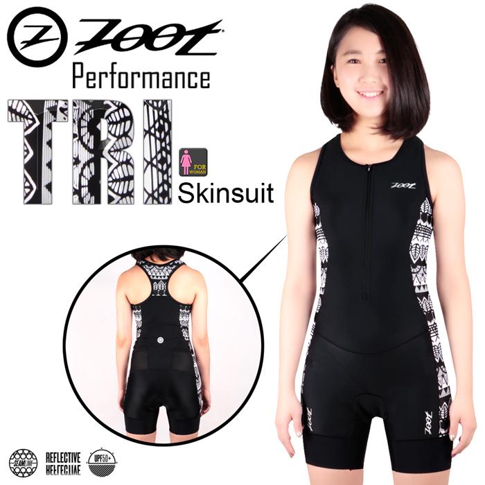 ZOOT 專業級 肌能連身鐵人服(圖紋黑女)