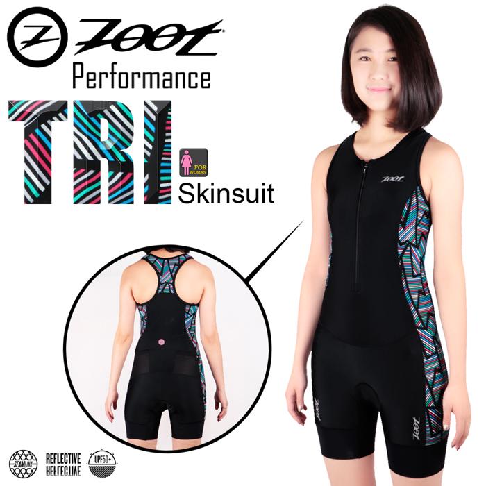 ZOOT 專業級 肌能連身鐵人服(線彩黑/女款)