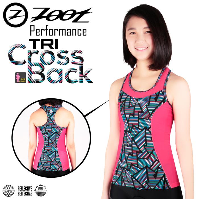 ZOOT 專業級 美背式肌能鐵人上衣(線彩紅/女款)