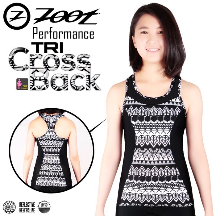 ZOOT 專業級 美背式肌能鐵人上衣(圖紋黑/女款)