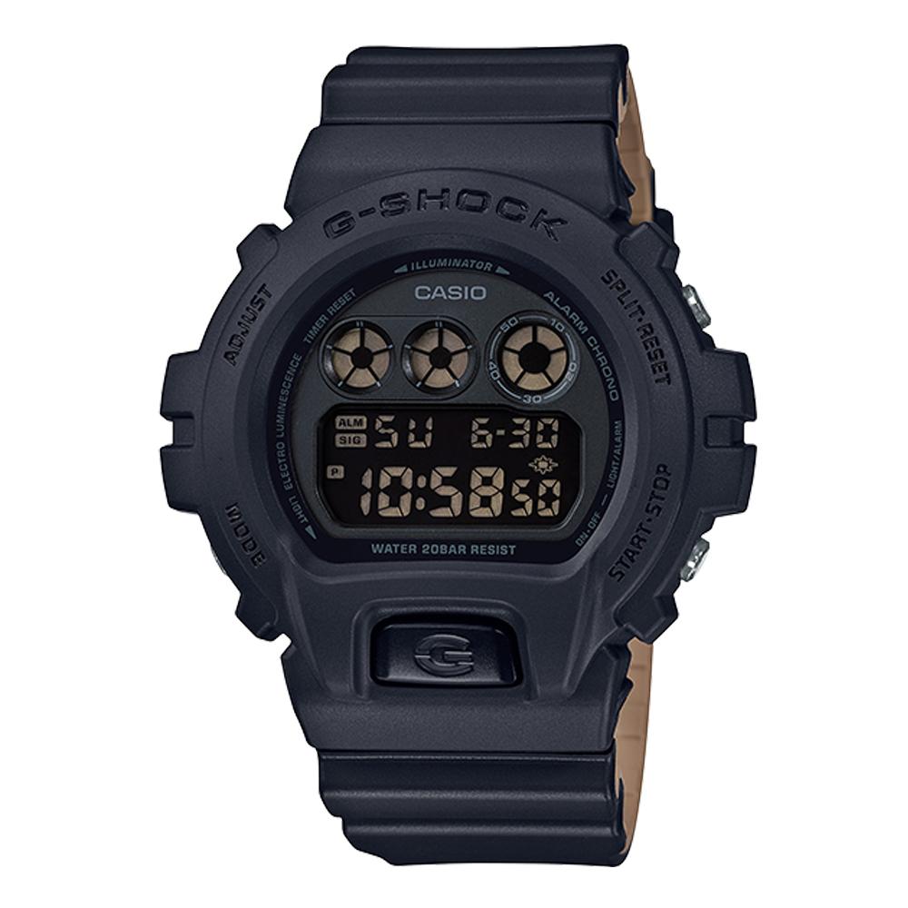 G-SHOCK 潮流休閒電子男錶 樹脂錶帶 黑色錶面 防水200米 DW-6900LU-1D