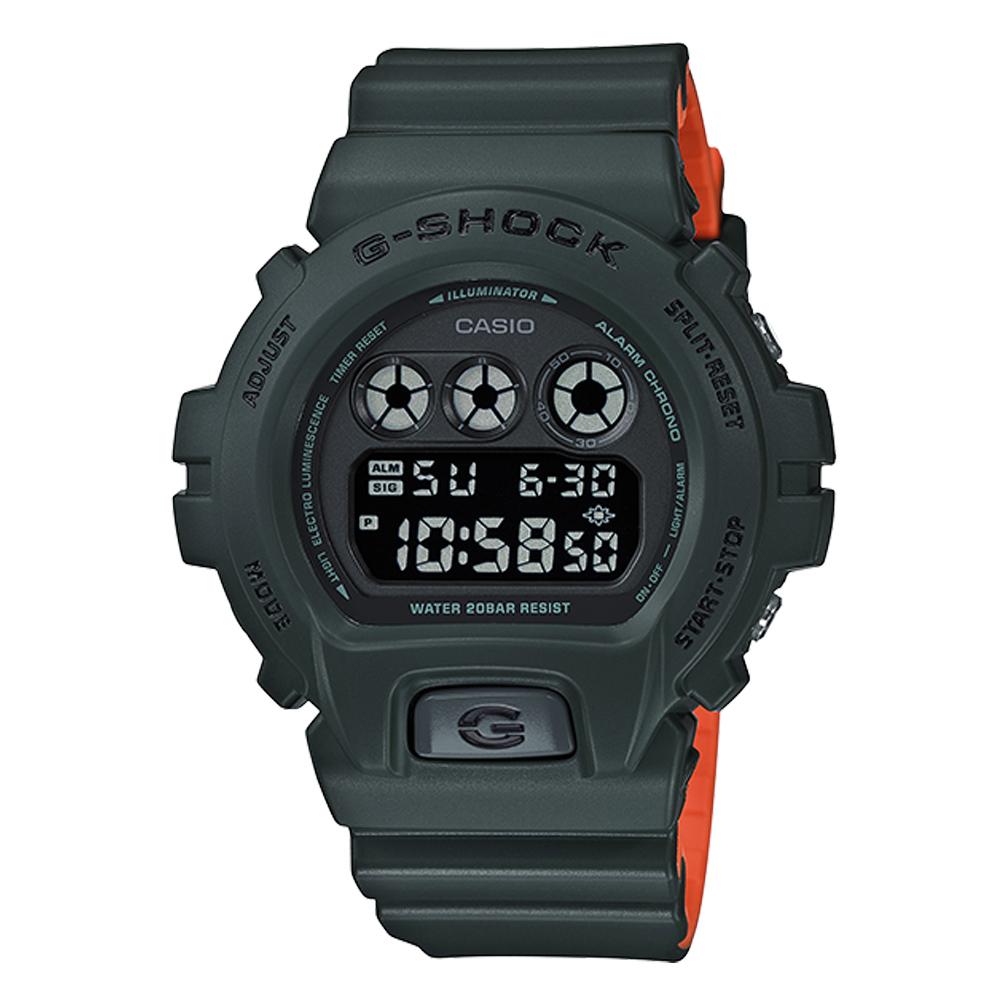 G-SHOCK 潮流休閒電子男錶 樹脂錶帶 黑色錶面 防水200米 DW-6900LU-3D