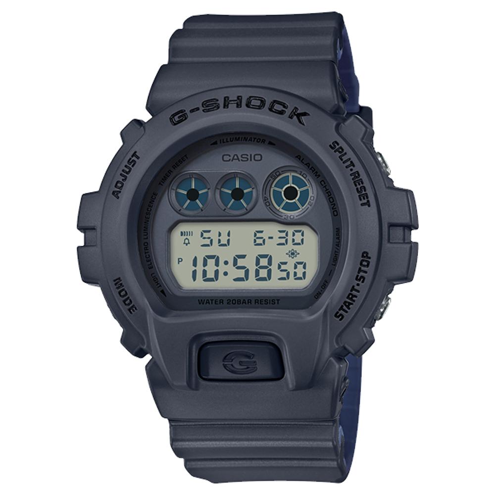 G-SHOCK 潮流休閒電子男錶 樹脂錶帶 黑色錶面 防水200米 DW-6900LU-8D