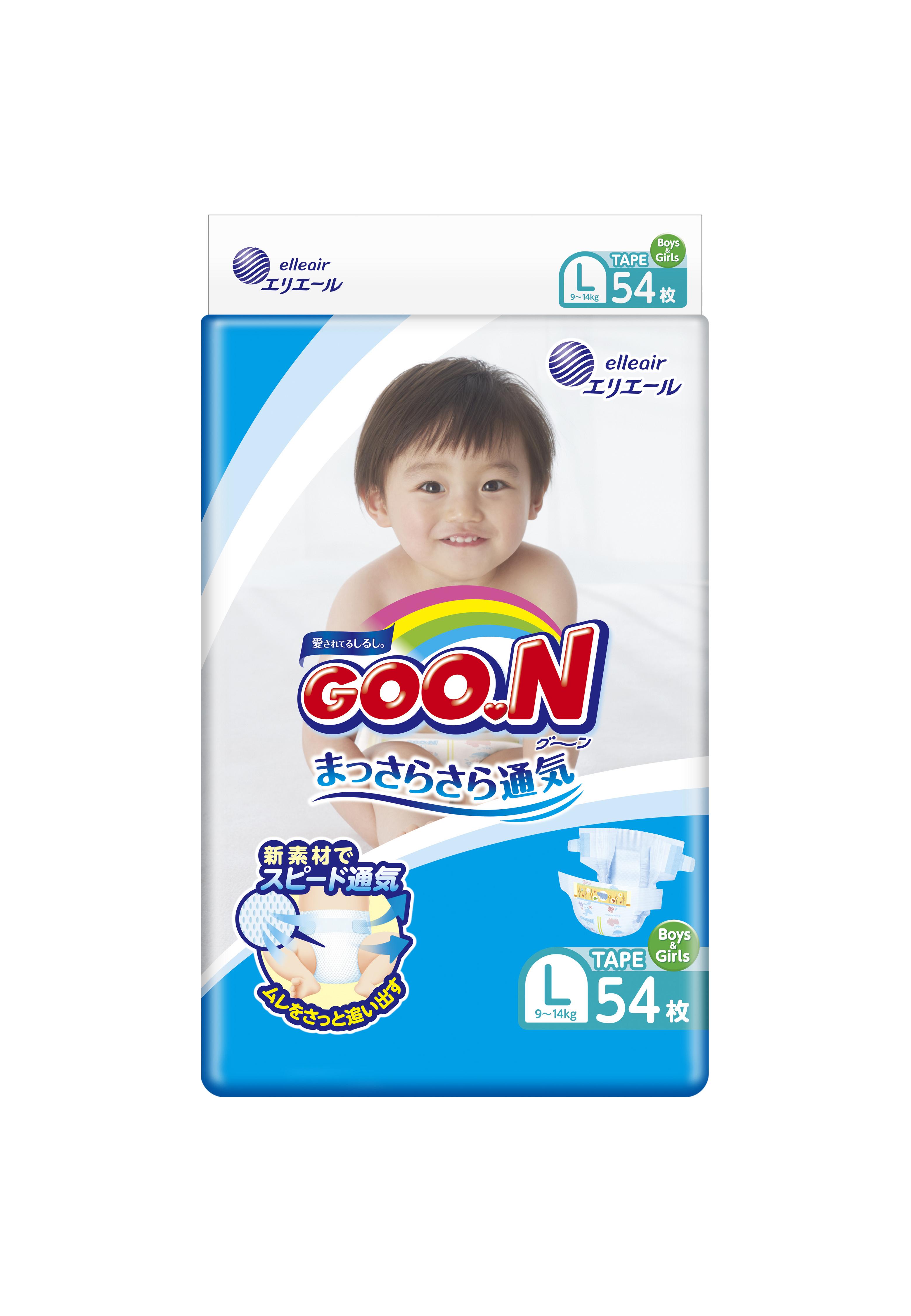 《GOO.N》日本大王紙尿褲境內版(L/ 54片*4包)