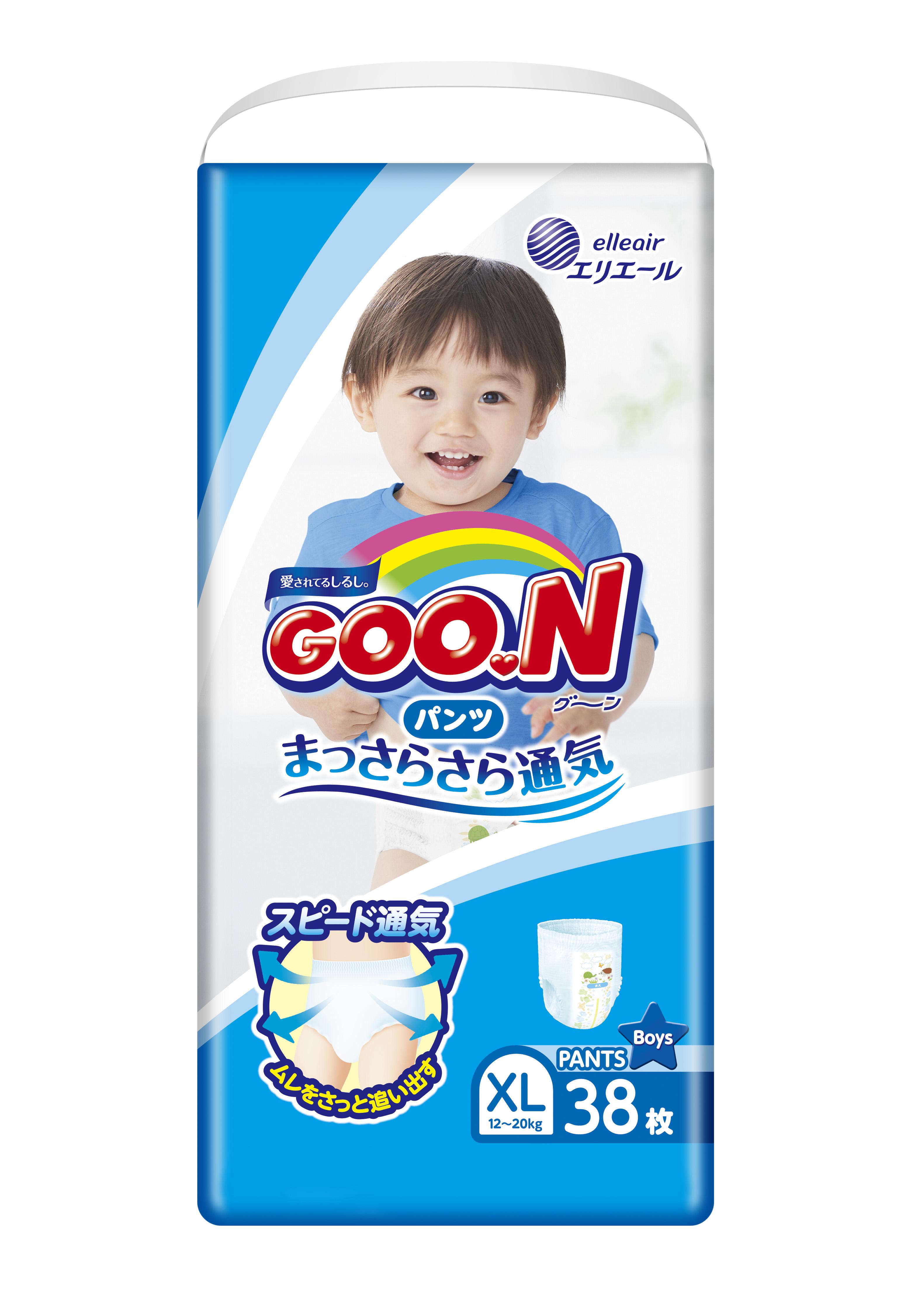 《GOO.N》日本大王紙尿褲境內版-男褲型(XL/ 38片*3包)