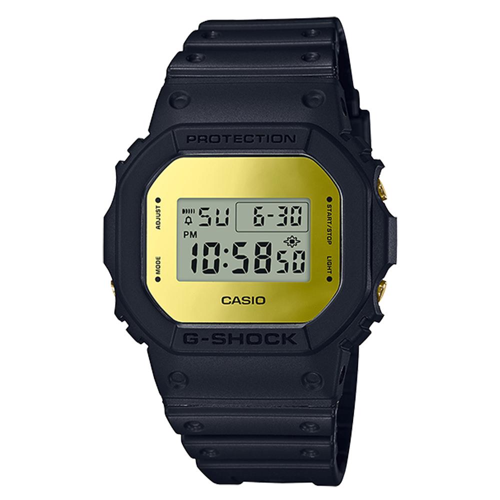 G-SHOCK 復刻經典電子男錶 樹脂錶帶 銀色錶面 防水200米 DW-5600BBMB-1D