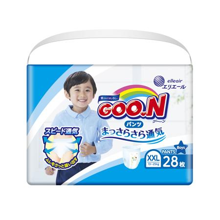 《GOO.N》日本大王紙尿褲境內版-男褲型(XXL/ 28片*6包)