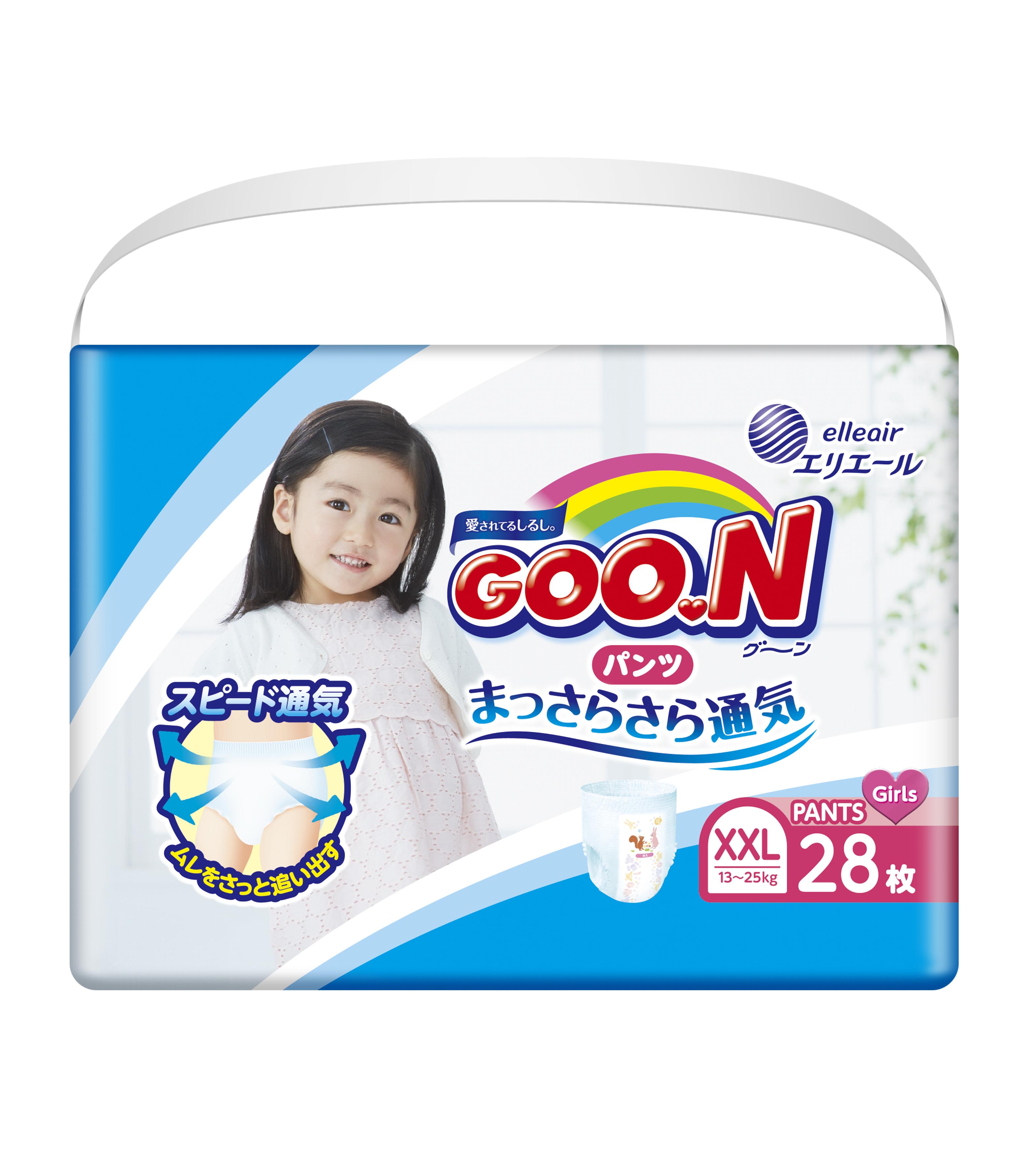 《GOO.N》日本大王紙尿褲境內版-女褲型( XXL/ 28片*6包)