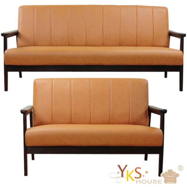 【YKSHOUSE】奈良木作2+3人座皮沙發椅(四色可選)