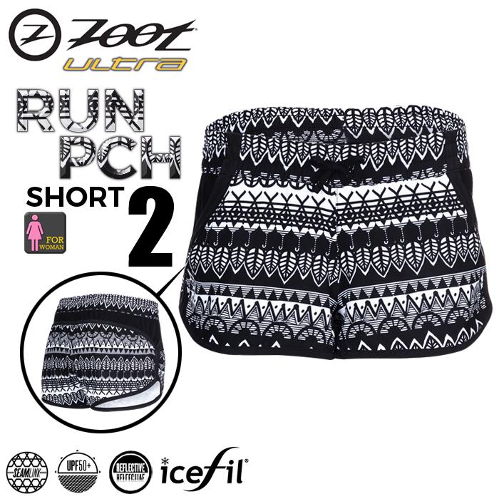 ZOOT 頂級冰涼感2吋跑褲(女)-圖紋黑