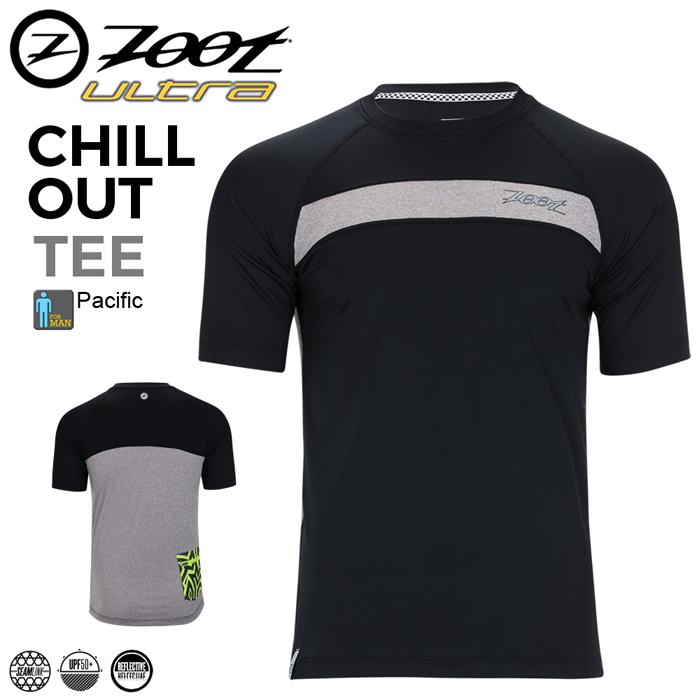 ZOOT 急凍冰紗路跑運動上衣(男)-曜石黑