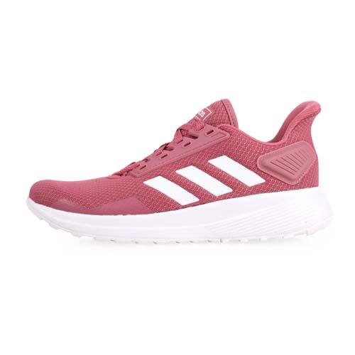 (女) ADIDAS DURAMO 9 休閒慢跑鞋-路跑 訓練 愛迪達 玫紅白