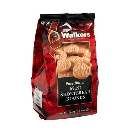 WALKERS蘇格蘭皇家迷你圓形奶油餅乾 125G