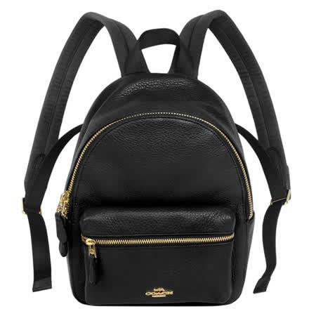 COACH 荔枝紋前口袋後背包