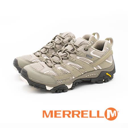MERRELL(女) MOAB 2 GORE-TEX 戶外多功能鞋 防水健行登山鞋 女鞋-淺橄欖綠 #ML12130