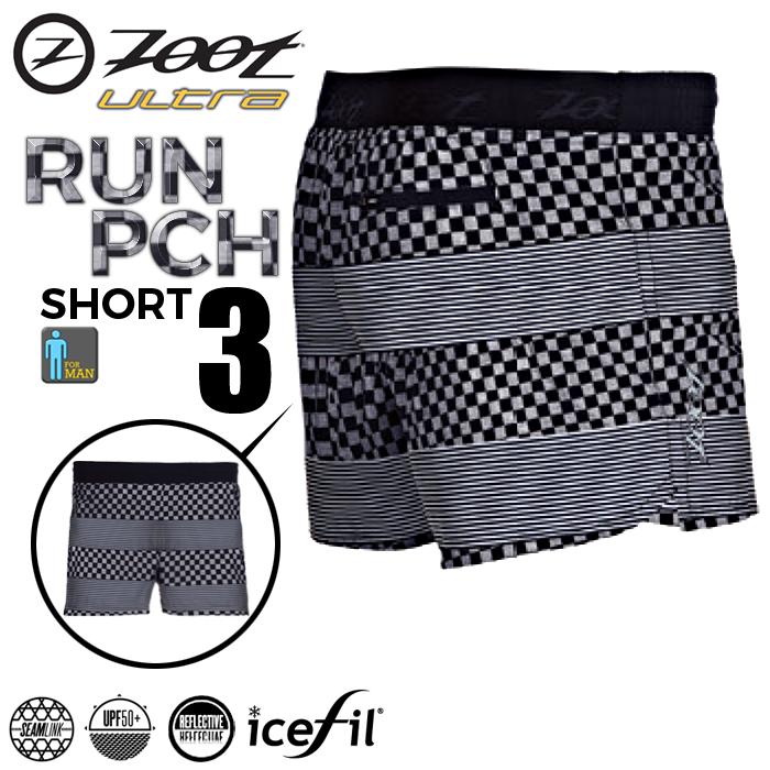 ZOOT 頂級冰涼感3吋跑褲(格紋黑/男款)