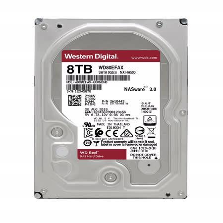 WD  紅標  8TB 3.5吋NAS硬碟
