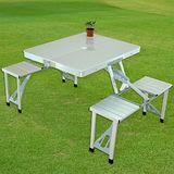 【LIFECODE】行動派鋁合金折疊桌椅/烤肉野餐桌