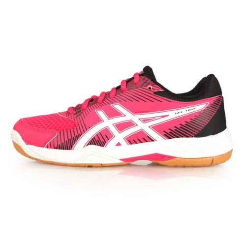 (女) ASICS GEL-TASK 排羽球鞋-排球 羽球 訓練 亞瑟士 黑桃紅