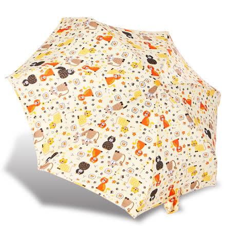 RAINSTORY 彩色貓咪抗UV迷你口袋傘