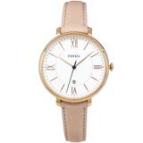 FOSSIL 手錶 ES3988 玫金框 羅馬時標 粉膚色錶帶 36mm 女錶