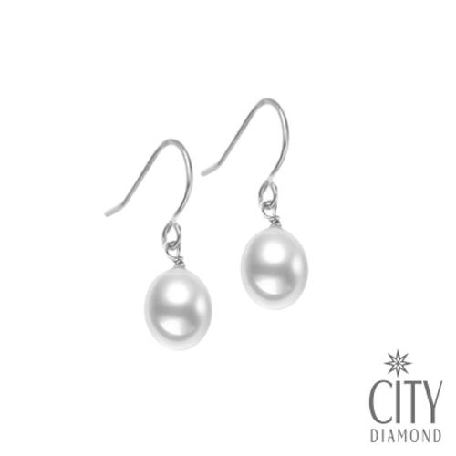 City Diamond引雅 手作設計系列 天然珍珠耳環 PE01910