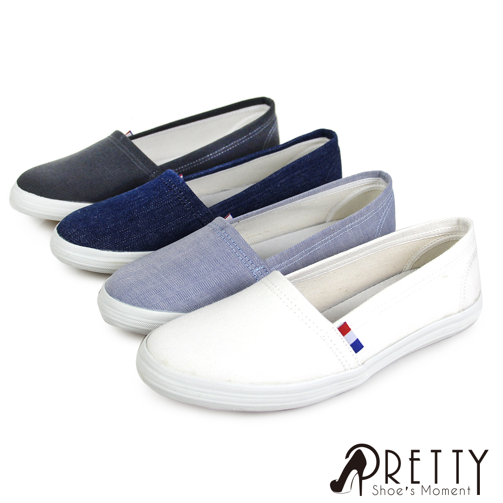 【Pretty】無印風格帆布平底鞋