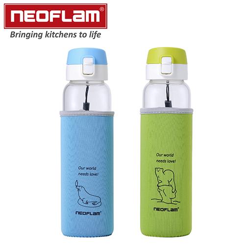 NEOFLAM 玻璃水壺彈跳款2入組