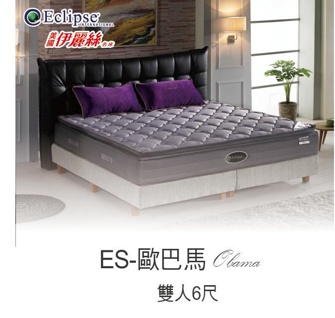 美國伊麗絲名床 奈米竹炭記憶膠蜂巢式獨立筒床墊 6尺雙人加大 (ES-歐巴馬)